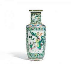 Roleau Vase with dancing crane, and scholars #porcelain