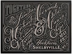 Graphic-ExchanGE - a selection of graphic projects #lettering #script #black #type #typography