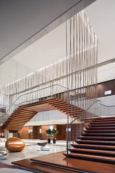 staircase in the conference area / CL3 Architects Limited
