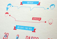 Wedding Invitation Infographics // Screen printed on Behance