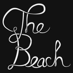 hand lettering #illustration #typography #hand lettering #the beach