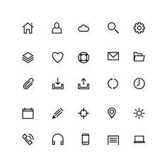 25 line icons preview #icon #symbol #pictogram