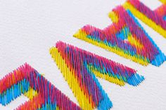 Handcrafted Typography of Colorful Stitches
