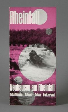 Vintage Swiss Rheinfall Brochure #international #ephemera #swiss #serif #sans #color #two #typographic #vintage #type #style #typography