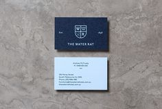 The Water Rat by Hofstede #business card #branding