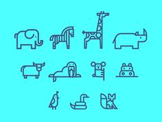 Animal Icons #illustration