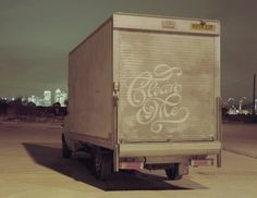 Dirty Truck Calligraphy by Alison Carmichael #graffiti #alison #carmichael #reverse #typography