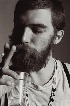 "FFFFOUND! | Editorial - ""Dash"" | The Fashionisto #handsome #white #beard #black #and #smoking"