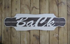 Logo model #longboard #ba #ck #wood #typography