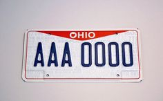 Aaron Roberts' Portfolio | 2012 Ohio License Plate #license #plate #ohio #design #graphic