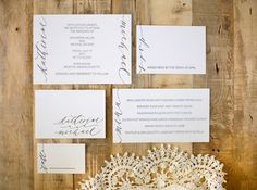 Calligraphy Inspiration from Neither Snow | Oh So Beautiful Paper #wedding #print #cards #invites