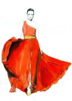 Fashion Illustrations by Caroline Andrieu #fashion #illustrations #caroline andrieu