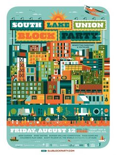 All: South Lake Union #illustration #design #poster #typography