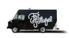 Fat Falafal #logo #branding #truck #food #vehicle