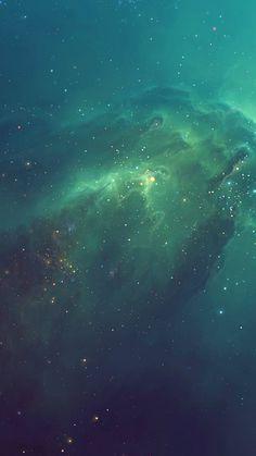 Green Starry iPhone 6 Wallpaper