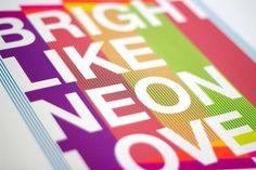 Explorations + Experimentation - Nicole #neon #color #helvetica