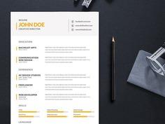 Free Simple Editable Resume Template for Job Seeker