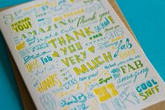 The Hungry Workshop | Thank you very much #you #card #letterpress #workshop #the #thank #hungry