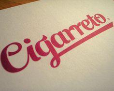 Cigarreto #design #typography