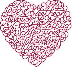 saks valentine | Marian Bantjes #heart #valentine #typography