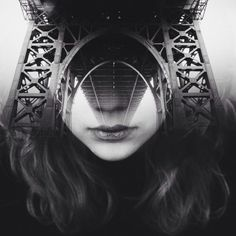 #girl#Black and white#creative#edit