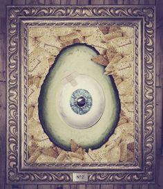 WEIRD III on the Behance Network #avocado #print #digital #vintage #art