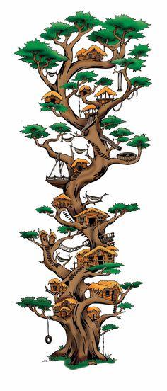 Treehouse Illustration by Zach Johnson