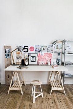 Vosgesparis: Creative spaces #desk #architecture #book #workspace