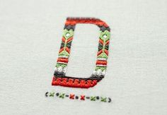 Esquire UK Magazine - Embroidered Typography on the Behance Network #design #typography