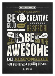 Motivational typography poster