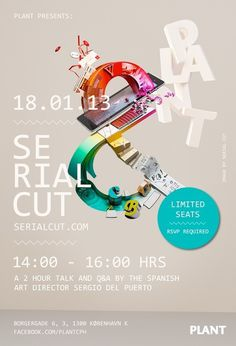 Serial Cut @ Plant CPH #graphic design #poster #digital arts
