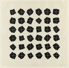 Manfred Mohr #print #graphic #geometric #plotter