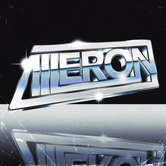 AILERON by RetroFuturisticVinyl #retro #futuristic #aileron #chrome #80s #silver #scifi #digitalart #illustration #graphicart #typography