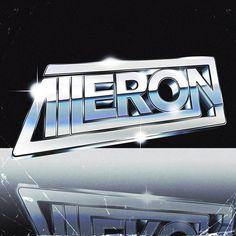AILERON by RetroFuturisticVinyl #retro #futuristic #aileron #chrome #80s #silver #scifi #digitalart #illustration #graphicart #typography