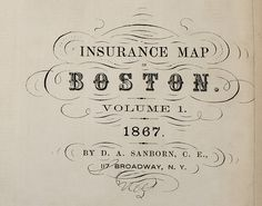 Incredible vintage typography from Sanborn Map Company