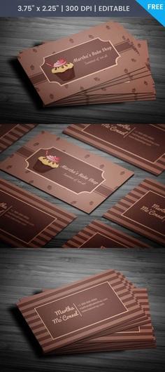 Free Cupcake Business Card Template