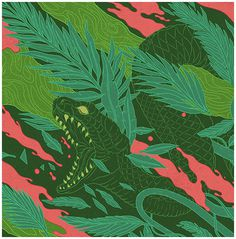 Smirnoff on Behance #pattern #smirnoff #& #snake #panther