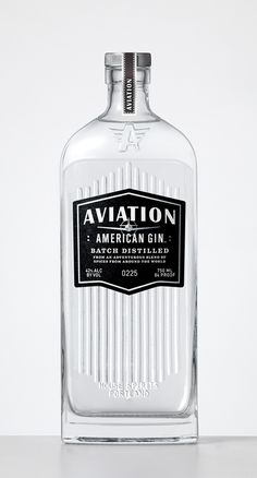 Aviation Gin #bottle #packaging #retro #gin #vintage