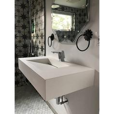 """Pyramid Stone 35"""" Wall Mount Bathroom Sink"""