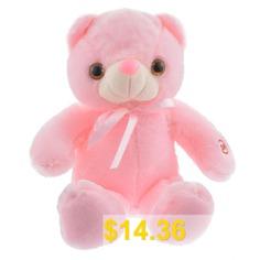 LED #Bear #Stuffed #Animals #Plush #Toy #Pillow #Colorful #Glowing #Bear #Doll #Plush #Toy #- #PINK