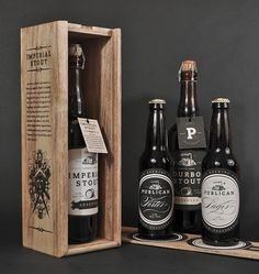 Beautiful Imperial Stout Beer Packaging via Lovely Package #packaging