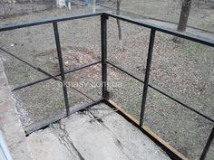 Усиление балкона. Кривой Рог. Замена перила. Укрепление балкона