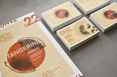 Tangerine: 2012 BFA Graphic Design Exhibition on Behance #postcards