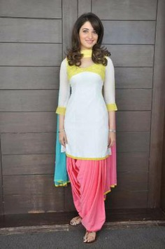 Tamanna Bhatia in Simple Patiala Suit Design
