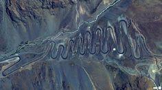 Aerial photo #mountain #aerial #photo #road #birds #eye