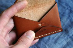 b #leather #wallet #stitch