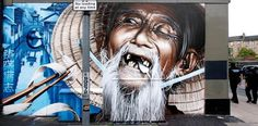 Old man on street art