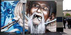 Old man on street art #graffiti #realism #street #art #realistic