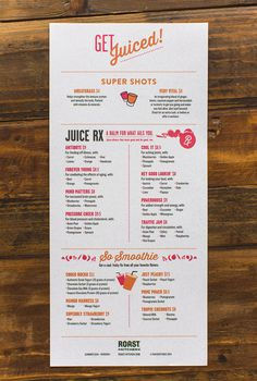 Roast Kitchen #menu #layout