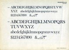 Baskerville type specimen #type #specimen #baskerville #typography